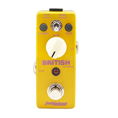 Guitar Distortion Effect Pedal PLEXION Classic British Style Recreation of 70-80's Marshall Amp Tone with 2 Modes Bright and Normal guitar pedal(APN-5) (Best Marshall Distortion Pedal)