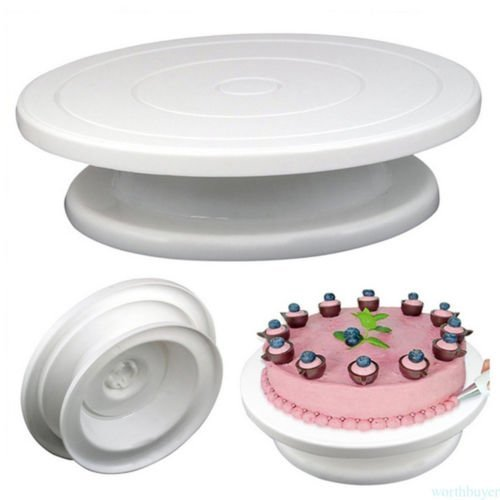 FidgetFidget Cake Decorating Stand Cake Turntable DIY Rotating Birthday Wedding NEW T5 by FidgetFidget