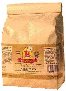 Price comparison product image Salt Substitute - Table Tasty No Potassium Chloride Substitute Salt - Larger Size 1 Lb Bag - Use To Refill Your Bottle - More Economical