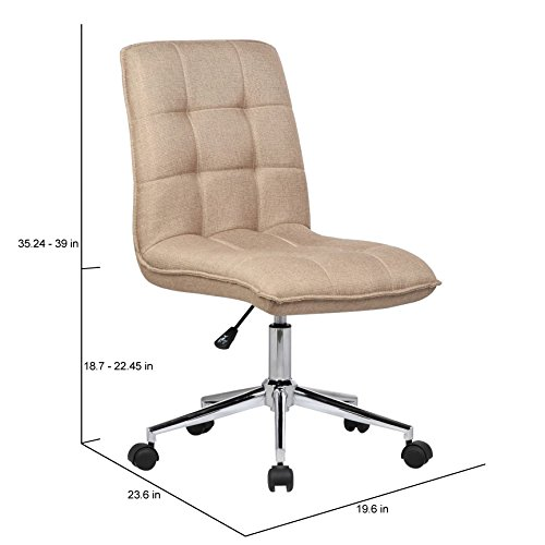 Porthos Home Leanne Adjustable Office Chair, Natural
