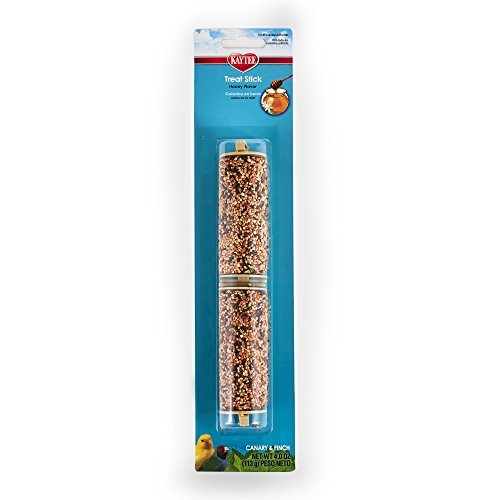 - Kaytee Forti-Diet Pro Health Canary And Finch Honey Treat Stick, 4-Oz