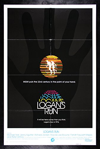 Logan's Run Movie Poster Rare Near Mint Movie Poster