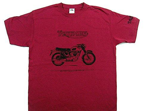 Triumph Bonneville Motorrad T-Shirt–Rot Shirt in Größe XL (44