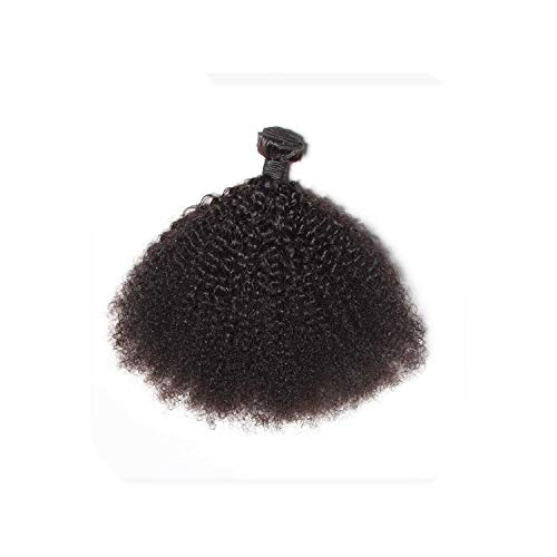 Mongolian Afro Kinky Curly Weave Hair Bundles 100% Human Hair Extensions Can Buy 3/4 Bundle Nature Color Remy V,20 20 22 22,Natural Color