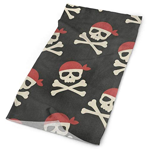 Airealy Variety Headscarf Custome Day of The Dead Skull Pirate Headband Sports Headwear Outdoor Scarf Mask Neck Gaiter Head Wrap Sweatband ()