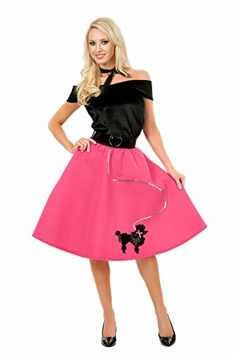 Adult 50s Poodle Skirt MEDIUM (Satin Poodle Dress Adult Costumes)