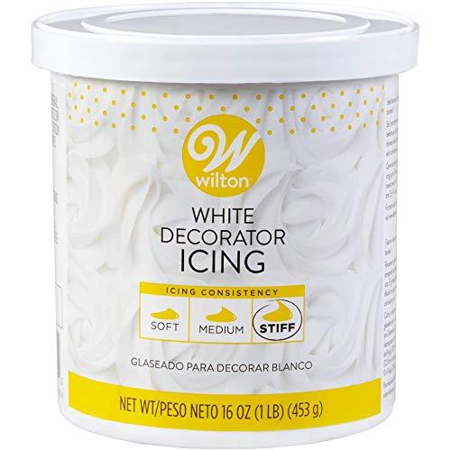 Wilton 710-4369 Stiff White Decorator Icing, 16 Ounce