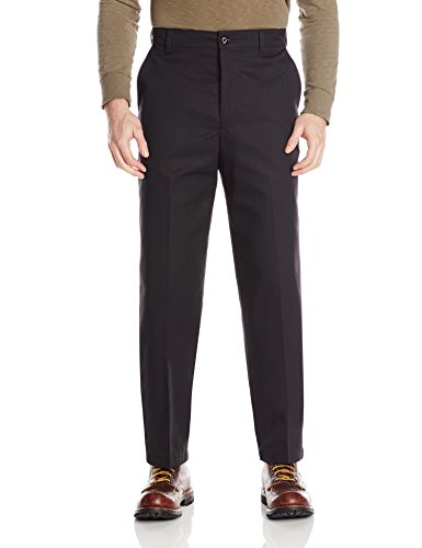 Red Kap Men's' Stain Resistant, Flat Front work Pants, Black, 34x30 - Red Kap Twill Slacks