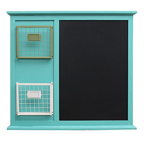 Hanging Green Board (YAN JUNau European Style Magazine Shelves Creative Woody Retro Wall Decoration Blackboard Wall Hanging Decorations + (Color : Green))