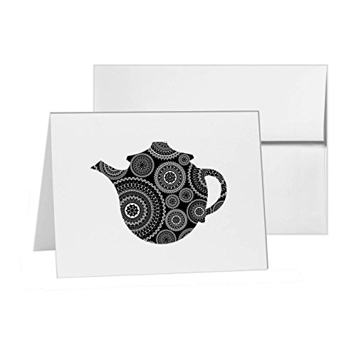 Teapot Beverage Pitcher Jug Drink, Blank Card Invitation Pack, 15 cards at 4x6, with White Envelopes, Item 247713