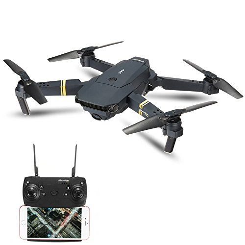 Drone Plegable Eachine E58  con Cámara de 2.0 MP Transmisión en Vivo, Control de Altitud, One Key Return; Fácil de Volar