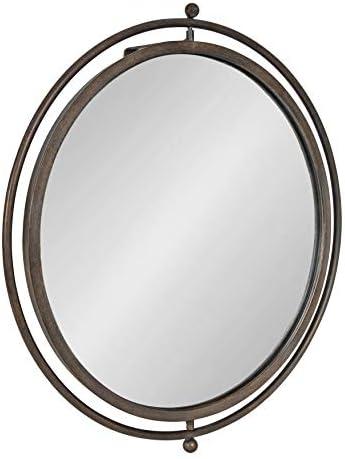 Kate and Laurel Baron Rustic Pivot Mirror