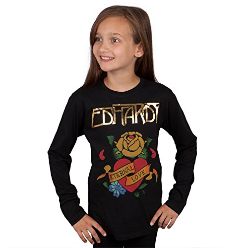 (Ed Hardy - Eternal Love Girls Youth Long Sleeve - Youth Small)