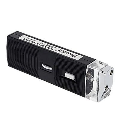 ProsKit 8PK-MA009 Fiber Optic Viewing Scope Kit Light Magnifier Microscope 200X Adjustable Magnification