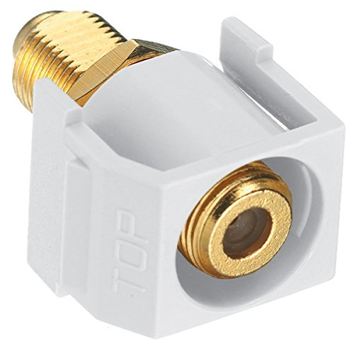 Hubbell Wiring Systems SFGRFW Snap-Fit Recessed F-Coax Connector, White by Hubbell Wiring Systems (Image #1)