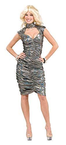 Forum Novelties Women's 70's Disco Fever Dancing Queen Costume Dress, Silver, X-Small/Small