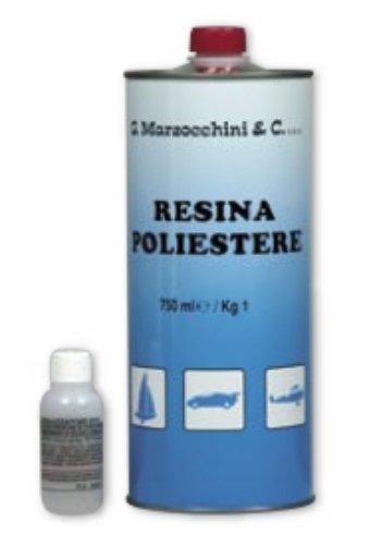 Resina Polyester per vetroresina con catalizzatore ml. 750 Marzocchini