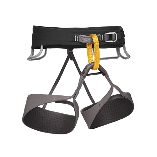 (Black Diamond Solution Climbing Harness - Men's Black/Slate)