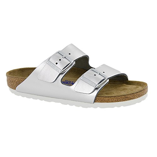 Birkibuc Arizona Leather Metallic Birkenstock Sfb Silver Sandal gO1wxppqa