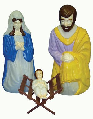 General Foam C5540AC Life Holy Family Size Nativity Collection, 4 Piece by General Foam Plastics