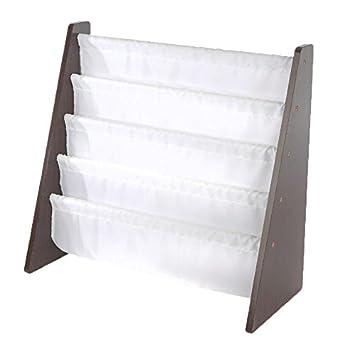tot tutors kids book rack storage bookshelf espressowhite espresso collection - Tot Tutors Book Rack Primary Colors