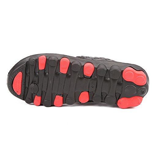 Vertvie Menn Sandal Flip Flop Sklisikre Slippers Red