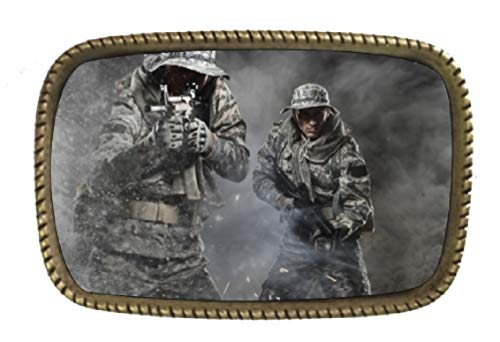 Patriotic American Soldiers Iraq War Heroes Brass Belt Buckle Made In The USA
