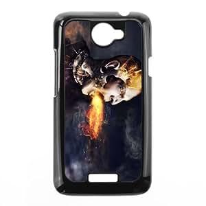 HTC One X Cell Phone Case Black Anger Creative OJ658498