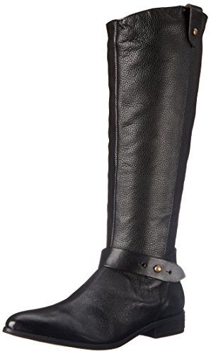 Corso Como Womens Dynamic Riding Boot Black Tumbled Leather/Black Brushed Leather