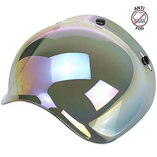 - Biltwell Unisex-Adult (BS-RNB-AF-SD) Bubble Shield-Rainbow Mirror-Anti-Fog, One Size)