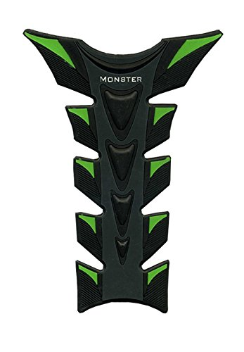 (Motorcycle Pad Sticker Fiber Gas Tank Racing 3D Green & Black Protector Rubber Decal Fit For KAWASAKI ZX636R ZX6RR)