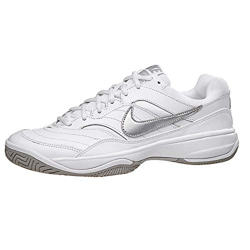 c09be0c1 Nike Court Lite Womens Tennis Shoe (6.5 C US, White/Metallic Silver ...