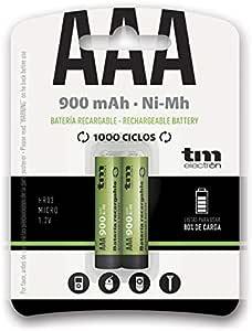 TM Electron TMVH-AAA900H - Pack de 2 Pilas Recargables, Color Verde: Amazon.es: Electrónica