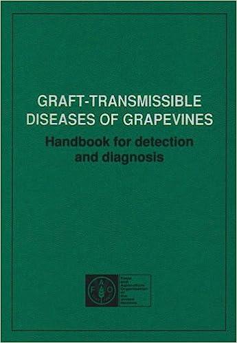 Graft Transmissible Diseases Of Grapevines Handbook For