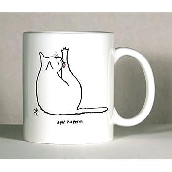 Cat Coffee Mug, Cat Mug, Cat Humor Mug, Personalized Cat Mug, Pick Cat Color, Add Name or Message