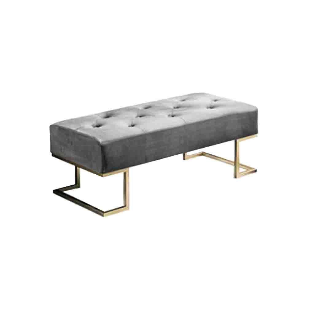 ECSD Nordischer Schuh Bench Iron Art Sofa Hocker Fußbank Bekleidungsgeschäft Leisure Ottoman Schlafzimmer Bettfußbank Hocker (Color : Gray, Size : 120cm)