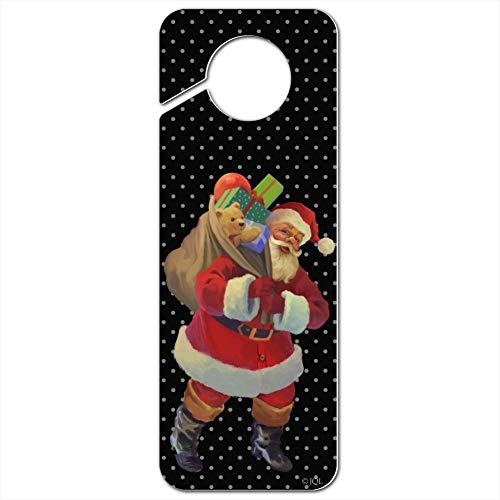 GRAPHICS & MORE Christmas Holiday Santa Sack Graphic Plastic Door Knob Hanger Sign - Image