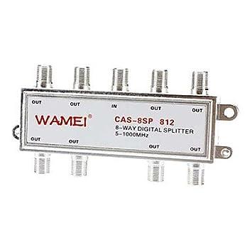 8-vías-Coaxial-Cable Splitter f pinza atornillada 5~2400 mhz para