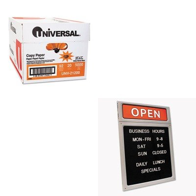 KITCOS098221UNV21200 - Value Kit - Cosco Message/Business Hours Sign (COS098221) and Universal Copy Paper (UNV21200)