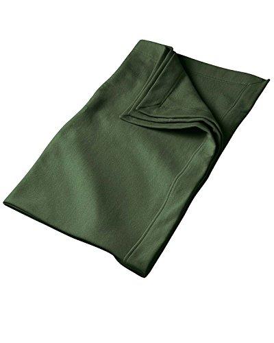 Gildan G129 9.3 oz. DryBlend Fleece Stadium Blanket - Forest Green - OS