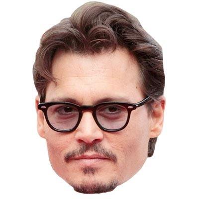 Johnny Depp Celebrity Mask, Cardboard Face and Fancy Dress Mask (Fancy Face Masks)