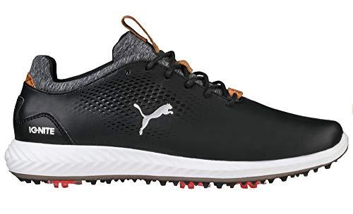 PUMA Golf Boys' Ignite Pwradapt Kid'{S=Short Sleeve, L=Sleeveless} Golf Shoe Black, 7 Youth US Big