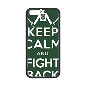 Attack On Titan iPhone 6 Plus 5.5 Inch Cell Phone Case Black 6KARIN-281675
