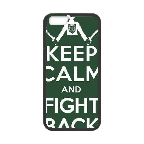 Attack On Titan Black coque iPhone 6 Plus 5.5 Inch Housse téléphone Noir de couverture de cas coque EBDOBCKCO14203