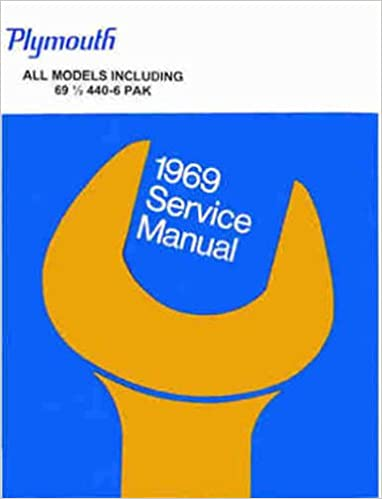 1969 PLYMOUTH FACTORY REPAIR SHOP SERVICE MANUAL BODY
