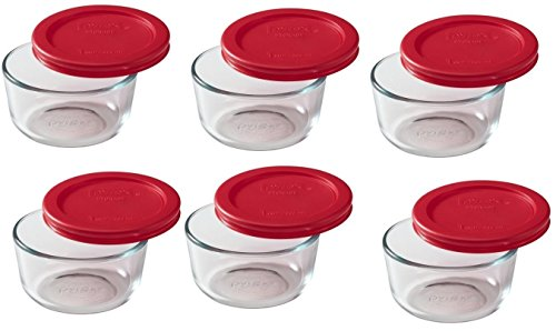 Pyrex 6-Piece Glass Food Storage Set with Lids (Glass, 12-Piece) (Pyrex 12 Piece Storage Set compare prices)