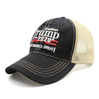MAGA Dad Baseball Cap USA Hat Mesh Washed Dyed Cotton Ball Make America Great Again Adjustable Cap - Black - One Size