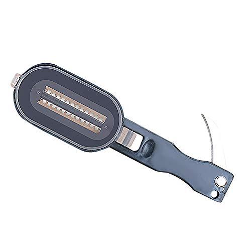Caslia Home Supplies Practical Fish Scale Remover Scaler Scraper Cleaner Kitchen Tools Peeler (Black)