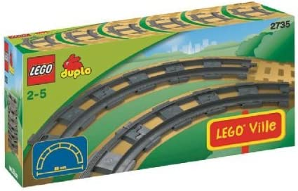 LEGO Duplo LEGOVille Curved Rails (2735)
