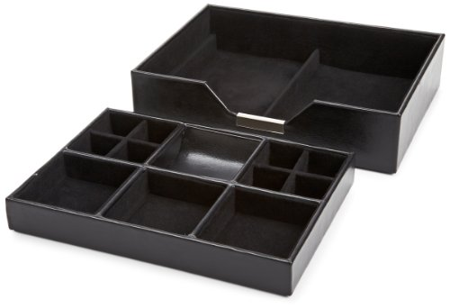 Mens Valet Tray (WOLF 290302 Heritage Set of Two Valet Trays,)